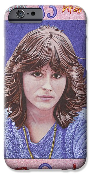 Def Leppard Paintings iPhone Cases - Oh Sherrie iPhone Case by Lance Bifoss