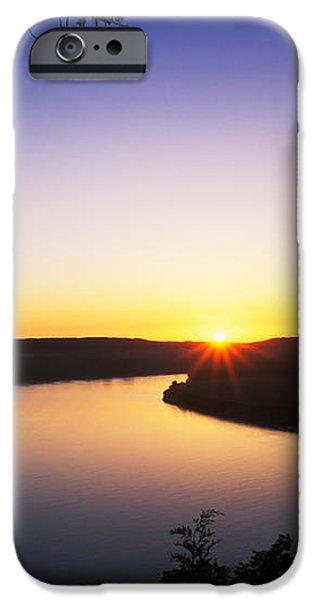 Ohio River at Sunrise iPhone Case by David Davis