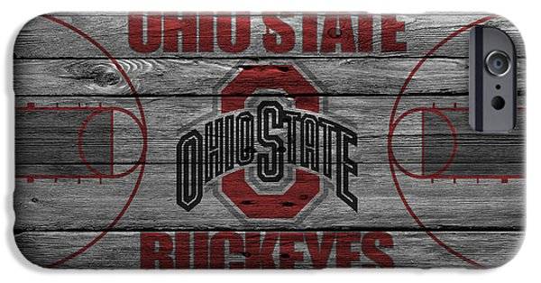 Santa iPhone Cases - Ohio State Buckeyes iPhone Case by Joe Hamilton