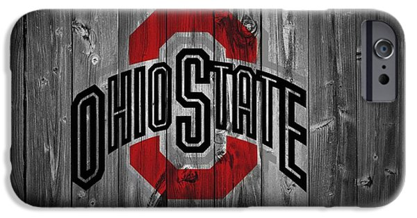 States Mixed Media iPhone Cases - Ohio State University iPhone Case by Dan Sproul
