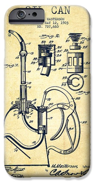 Industry iPhone Cases - Oil Can Patent From 1903 - Vintage iPhone Case by Aged Pixel