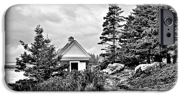 Pemaquid Lighthouse iPhone Cases - Oil House iPhone Case by Nikolyn McDonald