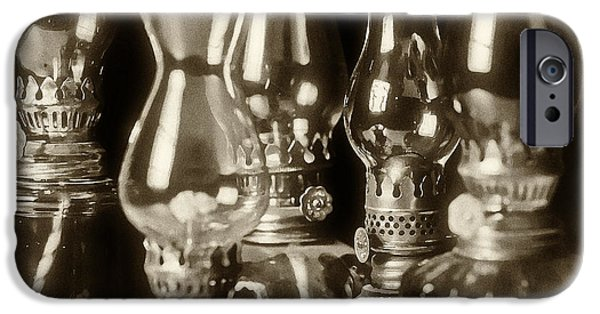 Oil Lamp Photographs iPhone Cases - Oil Lamps iPhone Case by Patrick M Lynch
