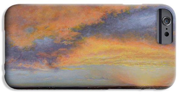 Interior Scene iPhone Cases - Oil Painting When the Sky Turns Color iPhone Case by Roena King