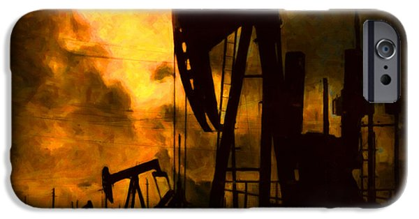 Wing Chee Tong iPhone Cases - Oil Pumps iPhone Case by Wingsdomain Art and Photography