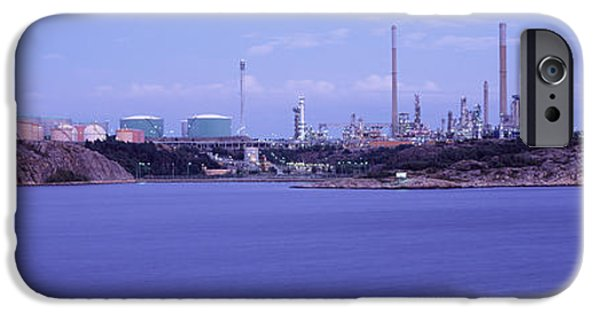 Industry iPhone Cases - Oil Refinery At The Coast, Lysekil iPhone Case by Panoramic Images