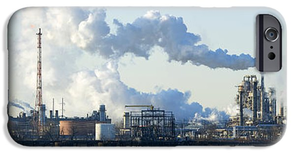 New Generations iPhone Cases - Oil Refinery At The Waterfront iPhone Case by Panoramic Images