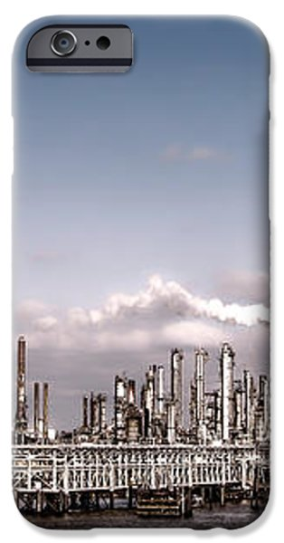 Oil Refinery iPhone Case by Olivier Le Queinec