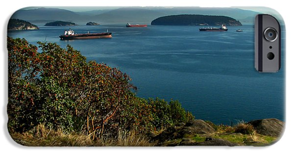 Seacapes iPhone Cases - Oil Tankers Waiting iPhone Case by Robert Bales
