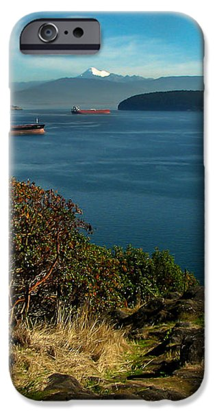 Oil Tankers Waiting iPhone Case by Robert Bales