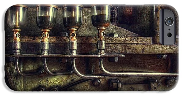 Steam Punk iPhone Cases - Oil Valves iPhone Case by Carlos Caetano