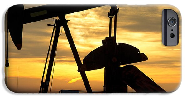Industry iPhone Cases - Oil Well Pump Sunrise iPhone Case by James BO  Insogna