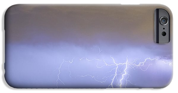 The Lightning Man iPhone Cases - Oil Well Pumpjack Thunderstorm iPhone Case by James BO  Insogna