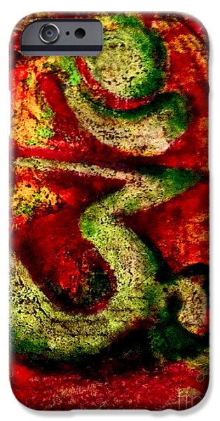 Vibrant Pastels iPhone Cases - Oiled Om iPhone Case by James Dames