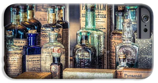 Gary Heller iPhone Cases - Ointments Tonics and Potions - A 19th Century Apothecary iPhone Case by Gary Heller