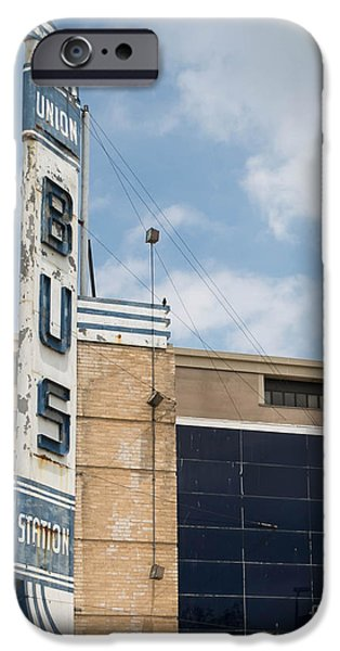 Old Bus Stations Photographs iPhone Cases - OKC Union Bus Station iPhone Case by Sue Huffer