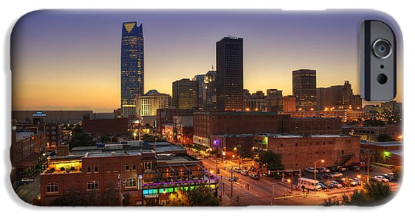 Best Sellers -  - Facade iPhone Cases - Oklahoma City Nights iPhone Case by Ricky Barnard