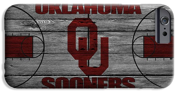 Division iPhone Cases - Oklahoma Sooners iPhone Case by Joe Hamilton