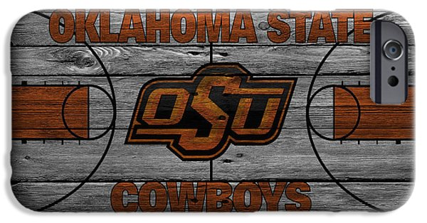 Dunk iPhone Cases - Oklahoma State Cowboys iPhone Case by Joe Hamilton