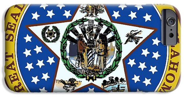 Oak Creek Digital iPhone Cases - Oklahoma State Seal iPhone Case by Movie Poster Prints