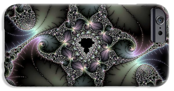 Fractal Glass iPhone Cases - Oktoplas iPhone Case by Jim Ross