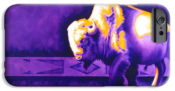 Airbrush iPhone Cases - Ol Bull iPhone Case by Robert Martinez