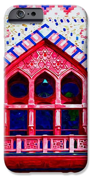 Church Pillars Paintings iPhone Cases - Olana 10 iPhone Case by Lanjee Chee