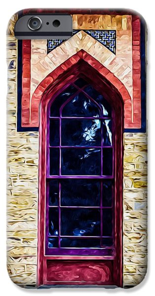 Church Pillars Paintings iPhone Cases - Olana 11 iPhone Case by Lanjee Chee