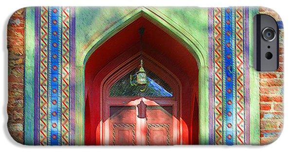 Church Pillars Paintings iPhone Cases - Olana 12 iPhone Case by Lanjee Chee