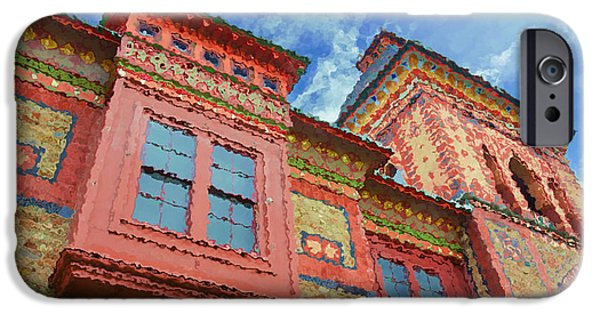 Church Pillars Paintings iPhone Cases - Olana 15 iPhone Case by Lanjee Chee