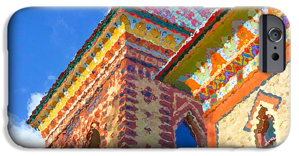 Church Pillars Paintings iPhone Cases - Olana 16 iPhone Case by Lanjee Chee