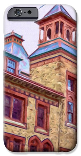 Church Pillars Paintings iPhone Cases - Olana 3 iPhone Case by Lanjee Chee