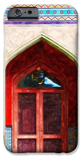 Church Pillars Paintings iPhone Cases - Olana 4 iPhone Case by Lanjee Chee