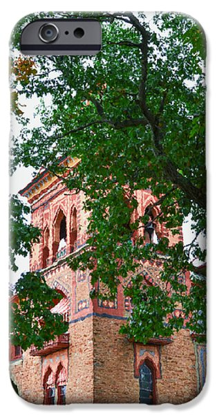 Church Pillars Paintings iPhone Cases - Olana 5 iPhone Case by Lanjee Chee