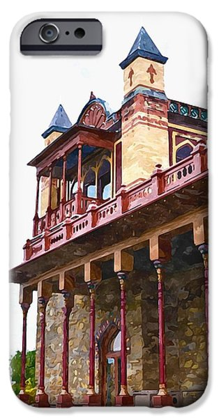 Church Pillars Paintings iPhone Cases - Olana 7 iPhone Case by Lanjee Chee