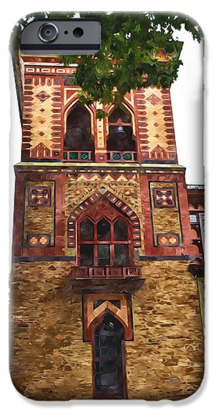 Church Pillars Paintings iPhone Cases - Olana 8 iPhone Case by Lanjee Chee