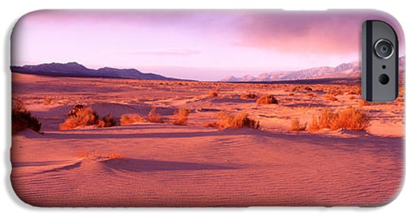 Dry Lake iPhone Cases - Olancha Sand Dunes, Olancha iPhone Case by Panoramic Images