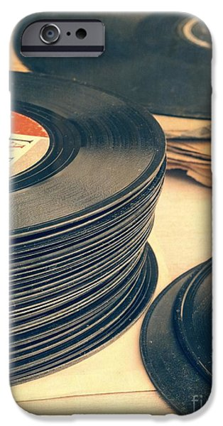 Music Photographs iPhone Cases - Old 45s iPhone Case by Edward Fielding
