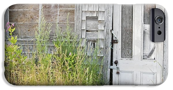 Maine Barns iPhone Cases - Old Abandoned Building In Maine iPhone Case by Keith Webber Jr