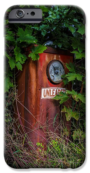 Overgrown iPhone Cases - Old abandoned gasoline pump iPhone Case by Edward Fielding
