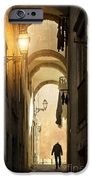 Balcony iPhone Cases - Old Alley iPhone Case by Carlos Caetano