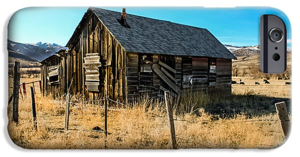 Haybale iPhone Cases - Old and Forgotten iPhone Case by Robert Bales