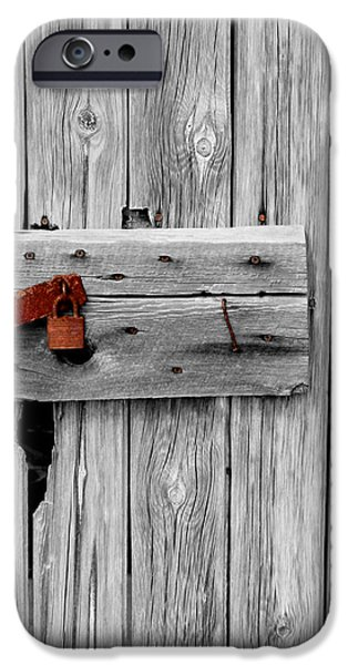 Old Barn Drawing iPhone Cases - Old and Rusty iPhone Case by Jeffrey J Nagy
