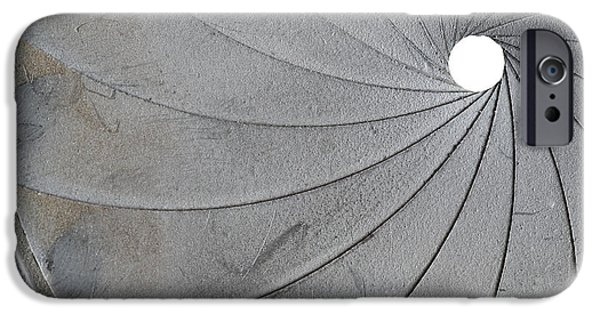 Aperture Photographs iPhone Cases - Old Aperture - Exposure Diaphragm iPhone Case by Michal Boubin
