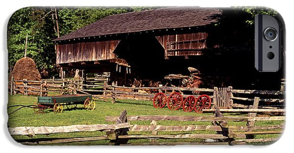 Tn Barn iPhone Cases - Old Appalachian Farm Cantilevered Barn iPhone Case by Paul W Faust -  Impressions of Light