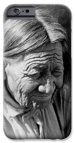 Arapaho iPhone Cases - Old Arapaho Man circa 1910 iPhone Case by Aged Pixel