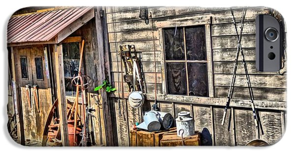 Old Village iPhone Cases - Old Bait Shop And Antiques iPhone Case by Dan Sproul