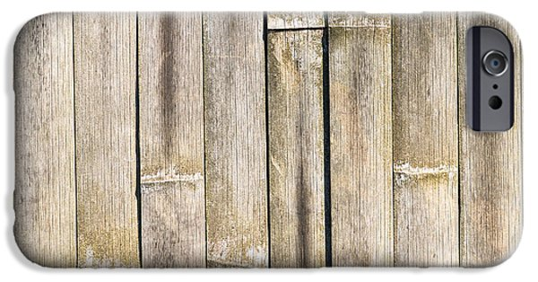 Bamboo Fence iPhone Cases - Old Bamboo Fence iPhone Case by Alexander Senin