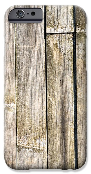 Old Bamboo Fence iPhone Case by Alexander Senin