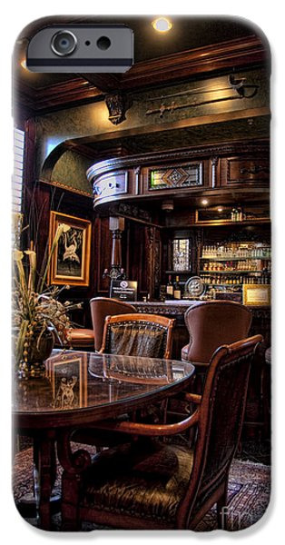Furniture iPhone Cases - Old Bar in Charleston SC iPhone Case by David Smith